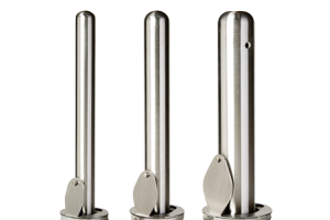 Stainless Steel Round Post Lock Removable Bollards