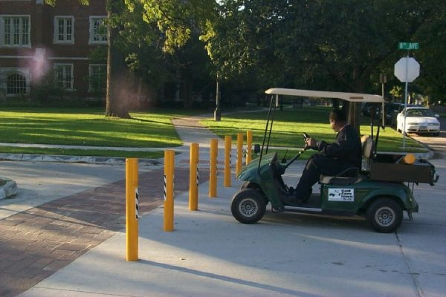 TrafficGuard, Inc Round Post Key Lock - Removable pipe bollard Grinnell College, Grinnell, IA