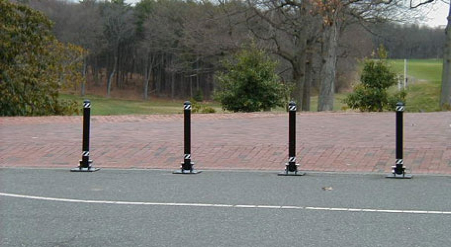 TrafficGuard, Inc Hinged Round Post, 30 - Steel bollards Beth Page State Park, New York