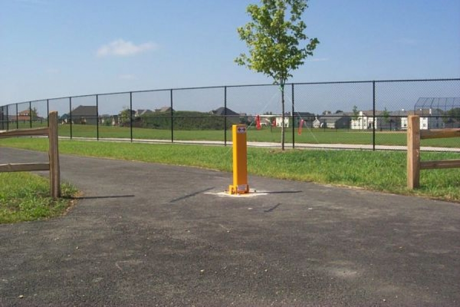 TrafficGuard, Inc Single Post - Vehicle Barriers Pedestrian Path, Geneva, IL