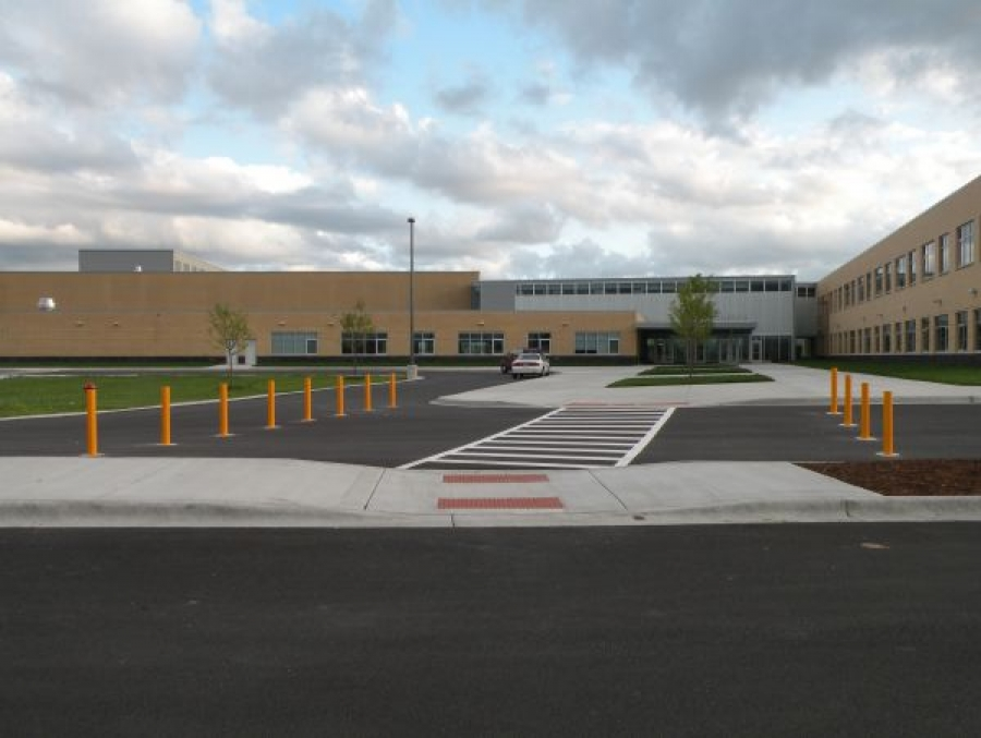 TrafficGuard, Inc Round Post Key Lock - Perimeter barriers Metea Valley High School, Aurora, IL