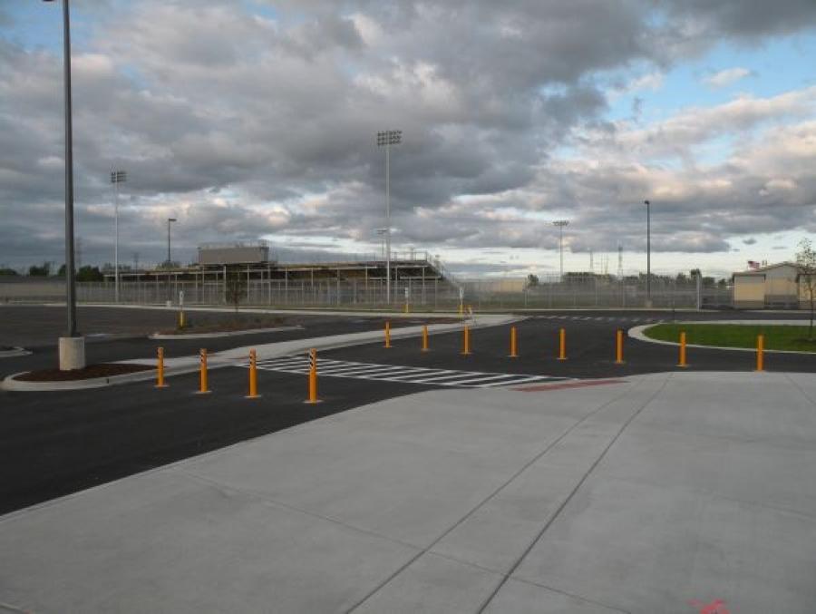 TrafficGuard, Inc Round Post Key Lock - Bollards removable Metea Valley High School, Aurora, IL