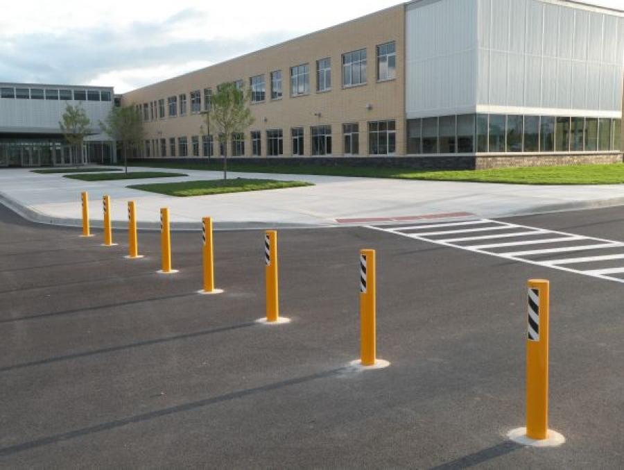 TrafficGuard, Inc Round Post Key Lock - Bollards Metea Valley High School, Aurora, IL