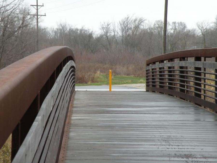 TrafficGuard, Inc Round Post Top Lock - Security bollards Leon D. Larson Memorial Park, Sycamore, IL