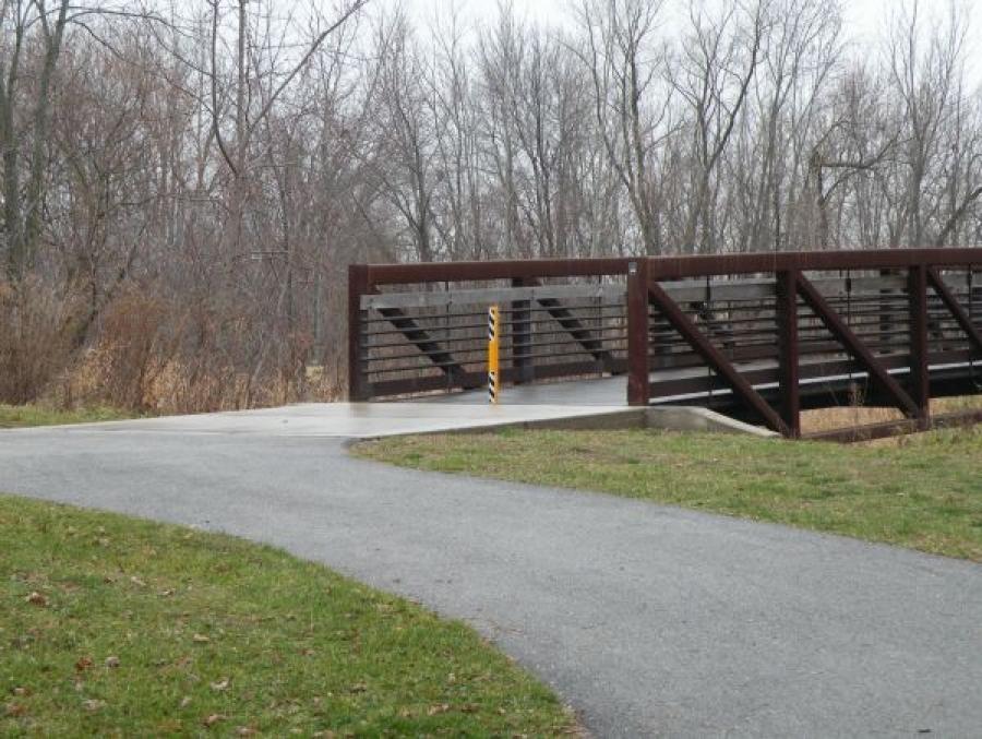 TrafficGuard, Inc Round Post Top Lock - Removable steel bollards Leon D. Larson Memorial Park, Sycamore, IL