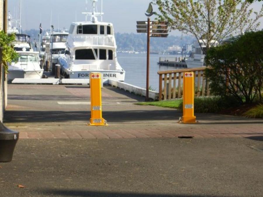 TrafficGuard, Inc Single Post - Removable bollard Marinas