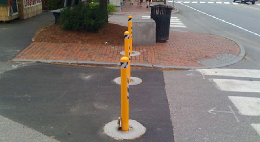 TrafficGuard, Inc Round Post Lock - Anti-ram fixtures LL Bean, Freeport, Maine