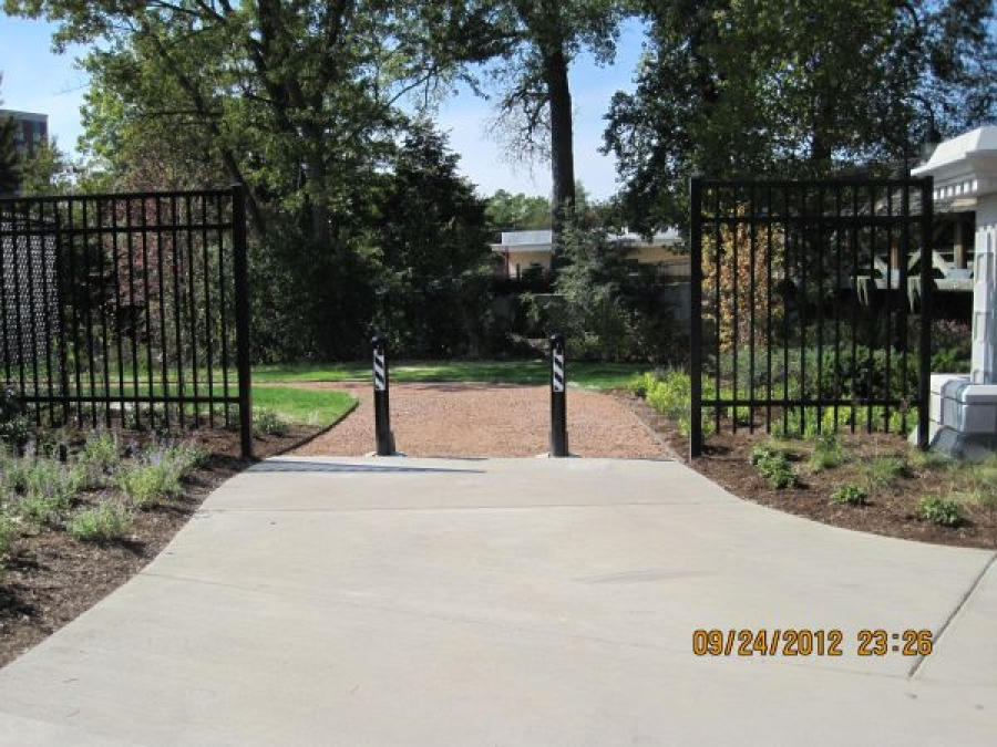 TrafficGuard, Inc Round Post Top Lock - Hinged bollards North Central College, Naperville, IL